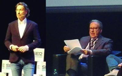 Con Josep Cuní y Víctor Küppers en el Branding Day | Cadena Ser