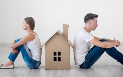 ¿Qué pasa con el piso si se separan los propietarios?